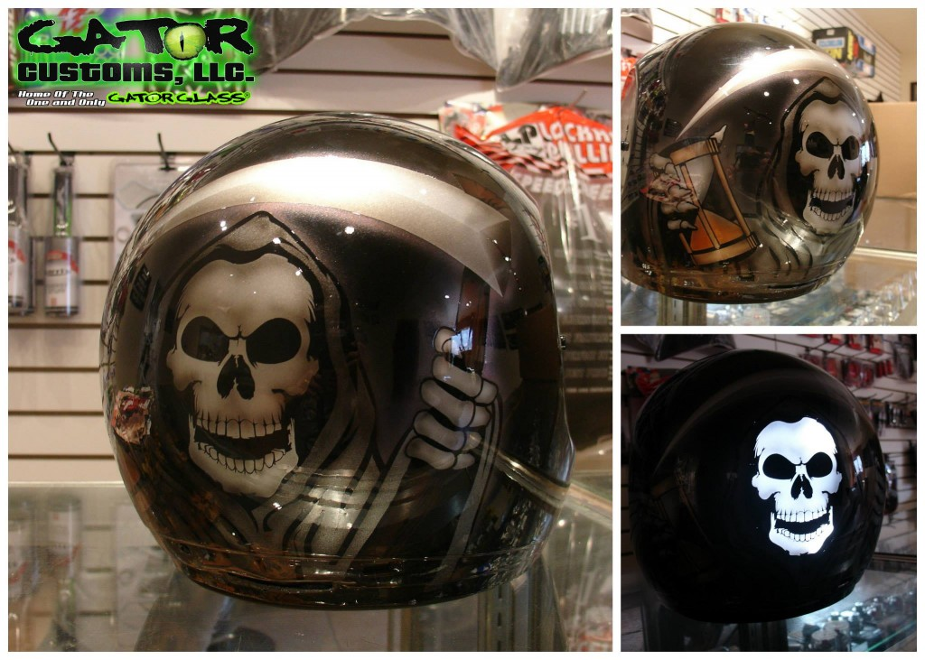 Gator Glass Reaper Helmet